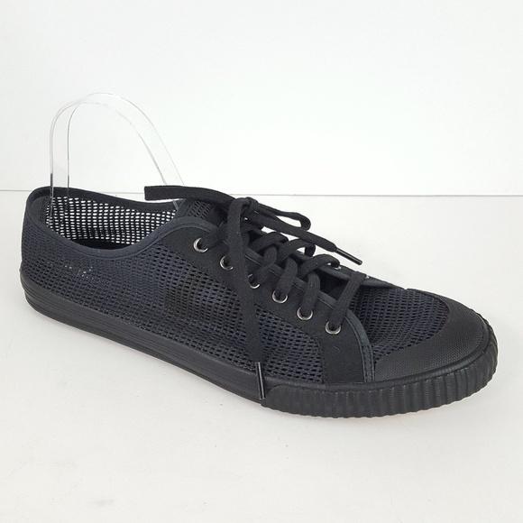 09d5354a6873  Tretorn  Tournament Black Mesh Lace Up Sneakers. M 5a84e28e9cc7ef3c683968e5